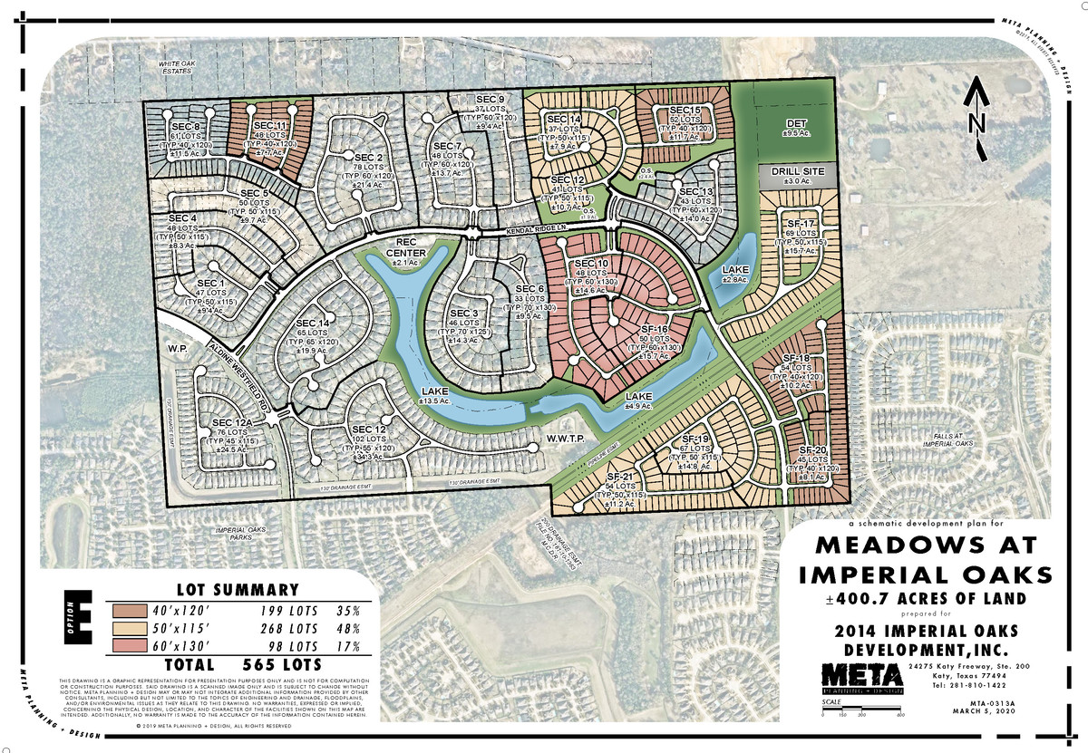 The Meadows at Imperial Oaks Plat Map