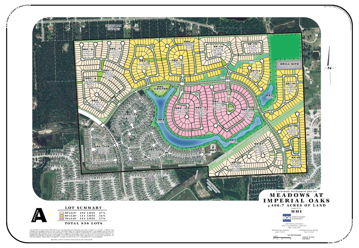 Meadows at Imperial Oaks, Houston area master plan